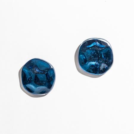 JULIE THÉVENOT Small Reverberation Earrings - Electric Blue