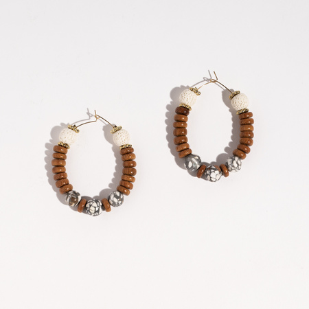 Happy Ears Ear Therapy Large Hoops - Neutral