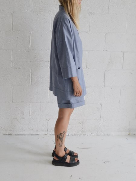 Odeyalo BLOOM kimono inspired overpiece - denim