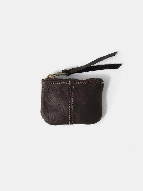 Erica Tanov leather coin purse - dark chocolate