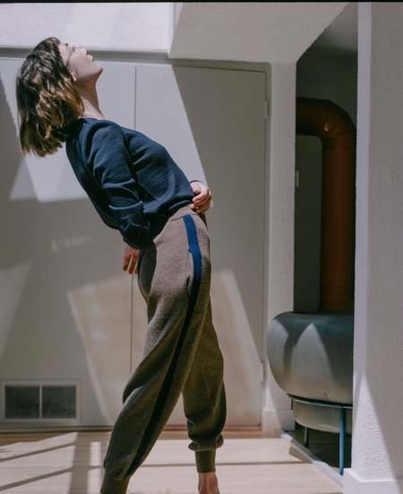 A Détacher Kiev Pants - Taupe/Navy