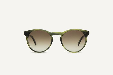 Unisex Dick Moby Brighton Sunglasses - green leaves