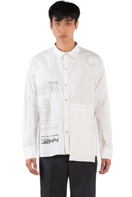 C2H4 Instruction Print Shirt - White