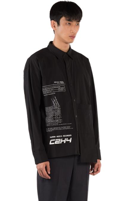 C2H4 Instruction Print Shirt - Black