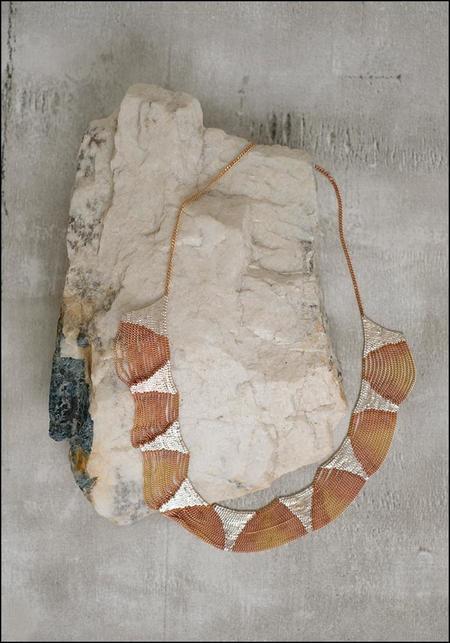 Hannah K Deanna Necklace - Brass/Silver