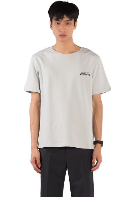 C2H4 Instruction Print T-shirt - Light Grey