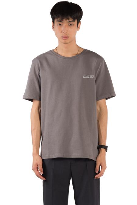 C2H4 Instruction Print T-shirt - Slate Grey