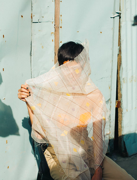 Abacá sinag shawl
