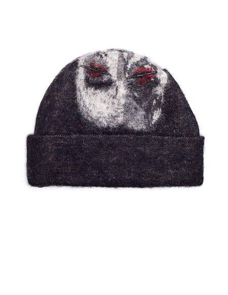 Doublet Mohair Clown Beanie - Black