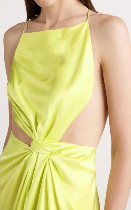 Dion Lee Diverge Drape Dress - Zest
