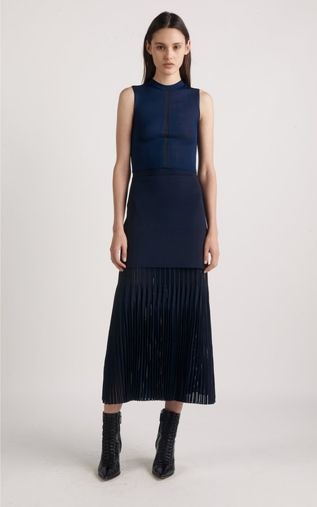 Dion Lee Outline Cropped Tee - Navy