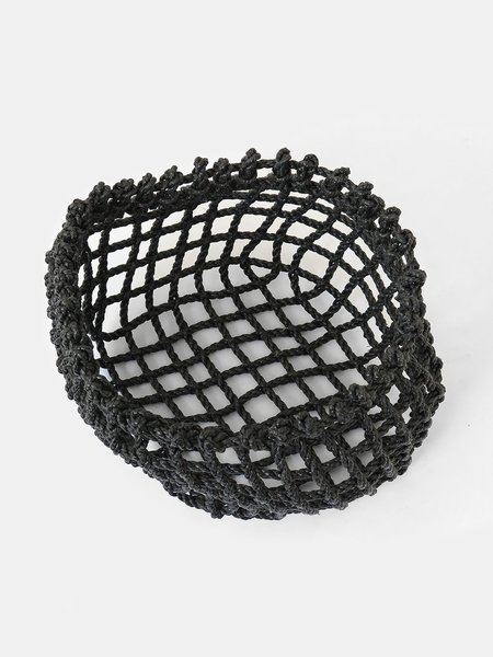 the rope co. short net basket - charcoal