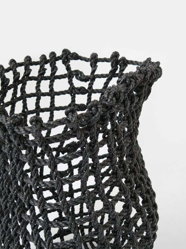 the rope co. tall net basket - charcoal
