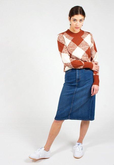 Calvin Klein Iconic Midi Skirt - light stone