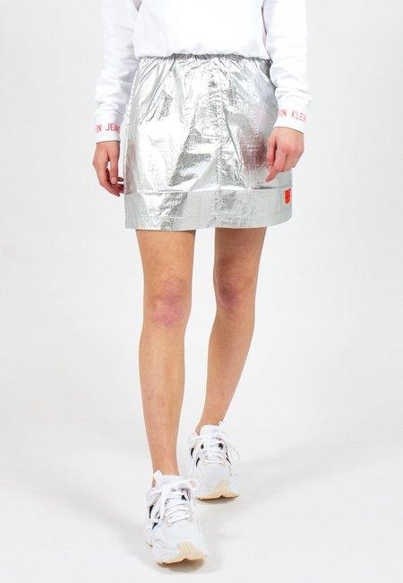Calvin Klein Utility Mini Skirt - silver
