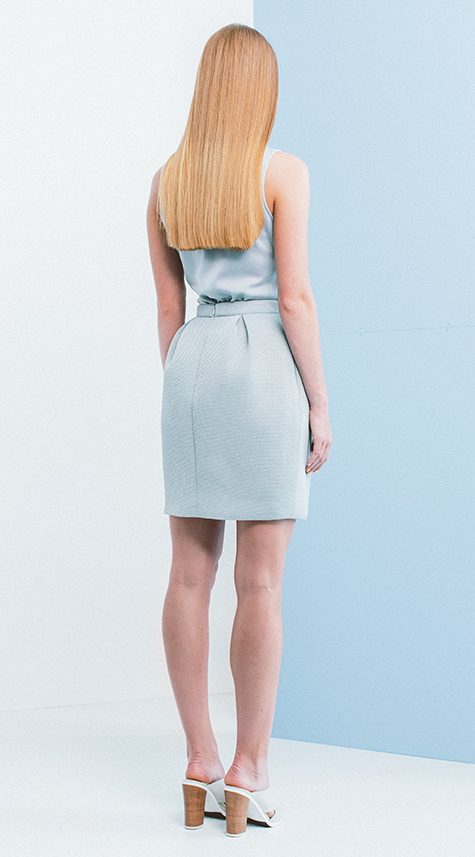 Obakki Engineered Mesh Knit Skirt