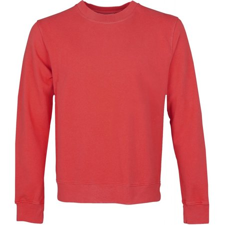 Colorful Standard Women Classic Organic Crew Sweater - Scarlet Red