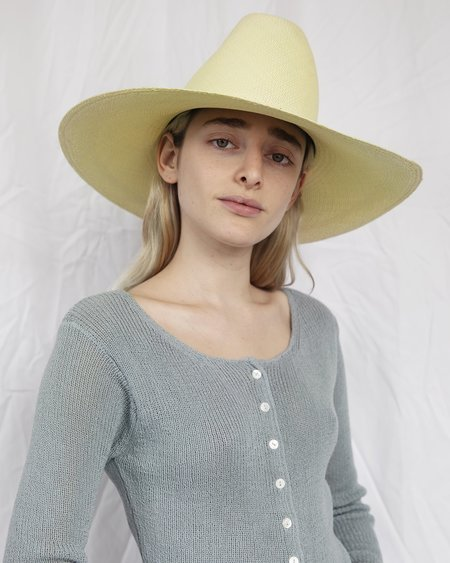 Clyde Panama Straw Cowboy Hat - Cornsilk