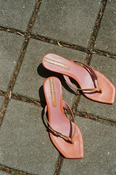 VINTAGE Thong Sandals - ORANGE