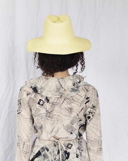Clyde Pinch Panama Hat - Cornsilk
