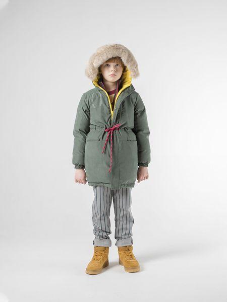 Kids Bobo Choses Reversible All Over Stars Hooded Anorak - Green