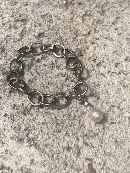 Marly Moretti Pearl/chain Bracelet - Silver