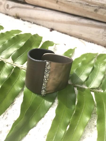 Marly Moretti Brass/Leather Cuff
