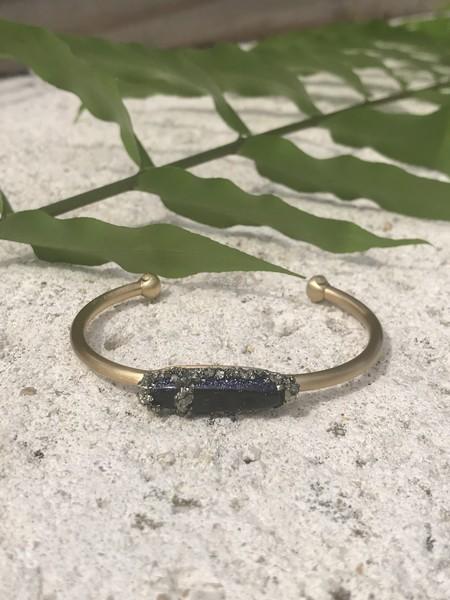 Marly Moretti Obsidian Cuff