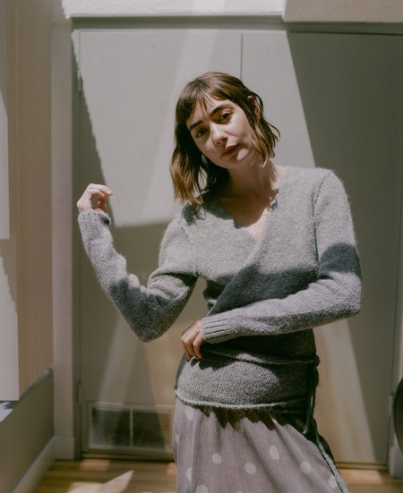 A Détacher Tiara Wrap Sweater - Heather