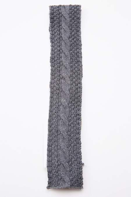 Engineered Garments Wool Cable Knit Knit Tie - Grey