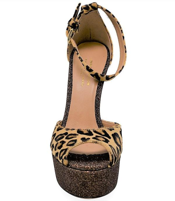 Madison Maison By Roberto Festa Venezia Platform Heel - Leopard