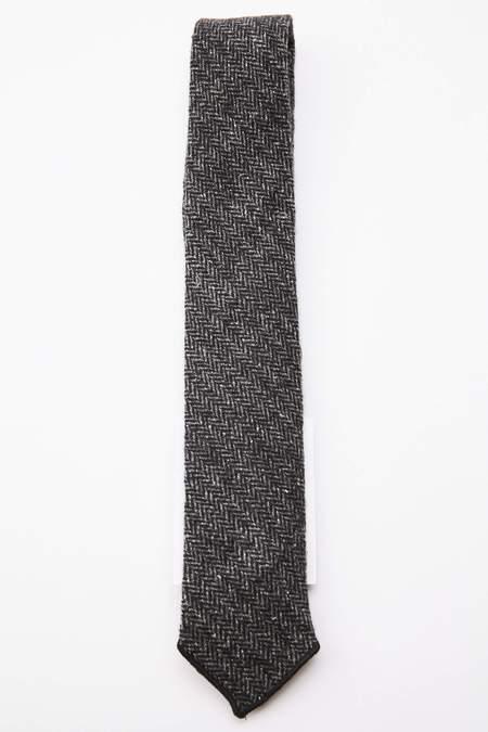 Engineered Garments Poly Wool Herringbone Neck Tie - Grey