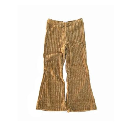 Kids Long Live the Queen Flared Chenille Pants - Ochre Rib