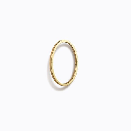 Shihara Oval Form 15mm Earring 01 (single) - 18k Yellow Gold