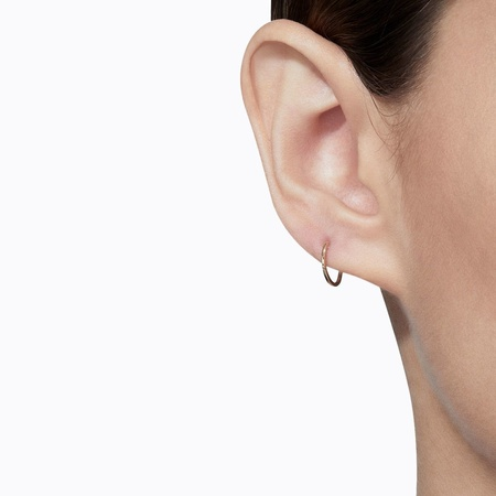 Shihara Oval Form Earring 01 (single) - 18k Yellow Gold