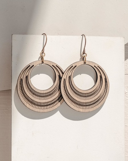 FOOL'S GOLD total babe retro hoops