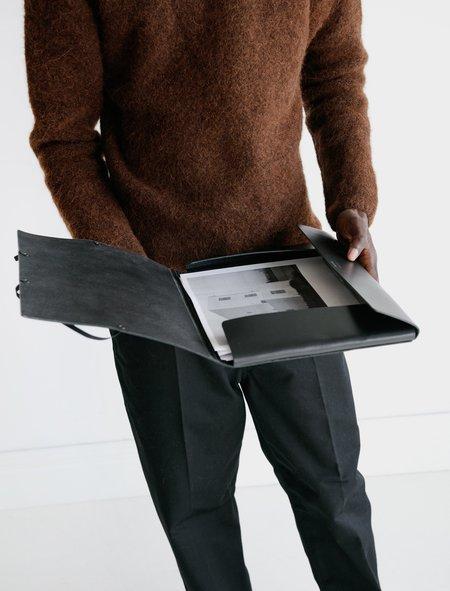 "Isaac Reina 156 A4 Covered Folder 13"" - Calf Black"