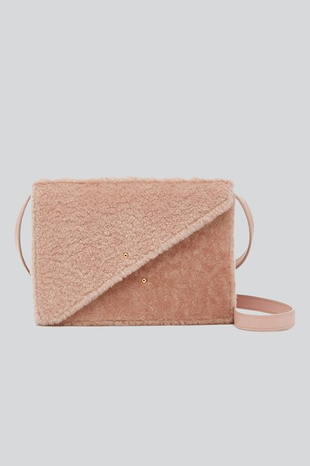 D'estree Martin Shearling Crossbody Bag - PALE PINK