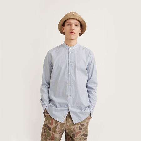 Wood Wood Tyson Shirt - Blue Pinstripe