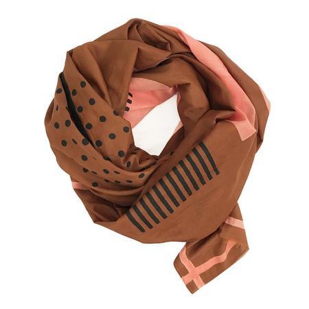 Block Shop Textiles Metronome Scarf - Cinnamon/Black