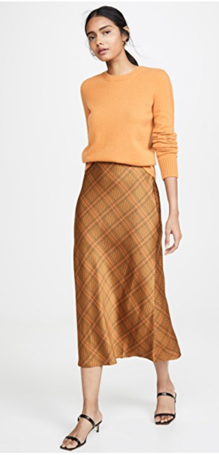C/MEO Collective No Time Skirt - Copper Check