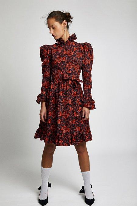 BATSHEVA Prairie Dress - Red Grape
