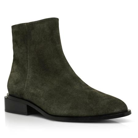 Robert Clergerie Algue Crost Xenon Bootie - Green
