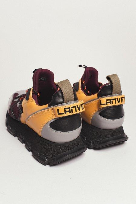 Lanvin Mesh & Nappa Leather Technical Runner - Multi