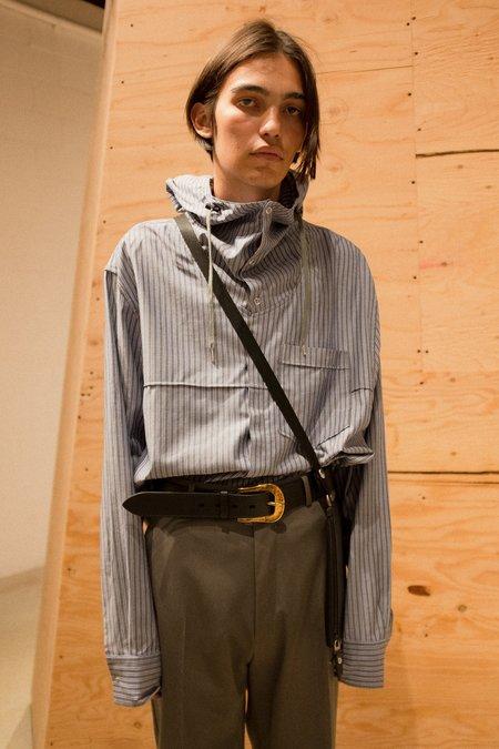 Lanvin Long Hooded Overshirt - Check