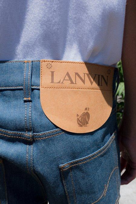 Lanvin Twist Seam Cropped Denim