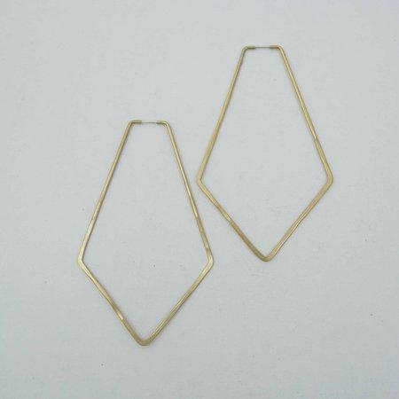 Essie Day North Hoop Earrings - Brass