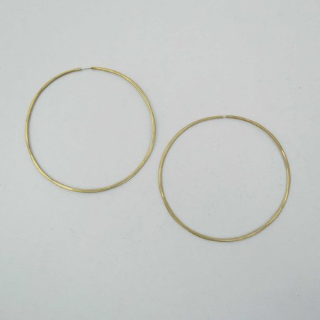 Essie Day Solar Hoop Earrings - Brass