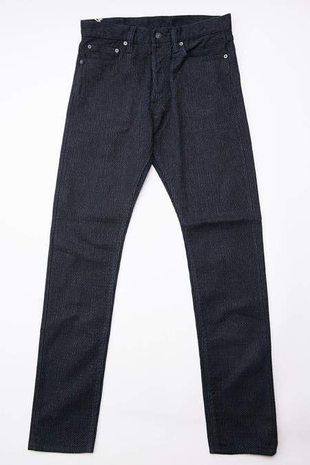 Pure Blue Japan 1153 Sashiko Relaxed Tapered Jeans - Double Indigo