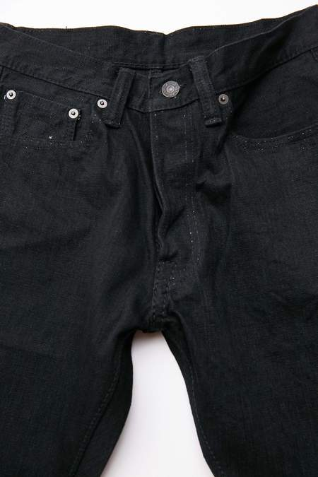 Pure Blue Japan XX-019-BB 14 oz. Relax Tapered - Sulfur Black
